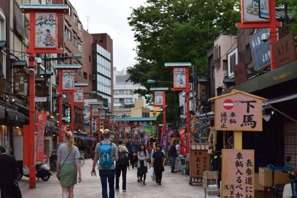 Street in Asakusa Tokyo