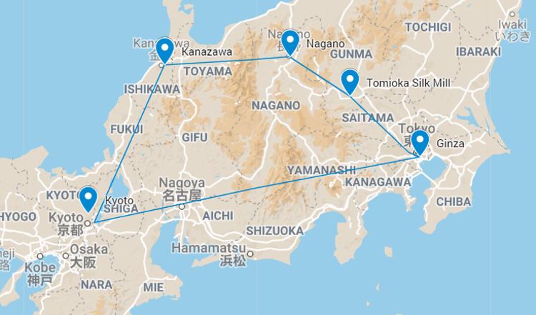 TanpopoStudio Textile Tour Map