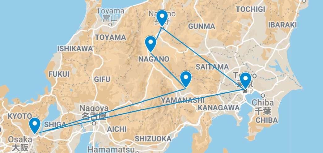 Spirits of Japan Map    Tanpopo Studio